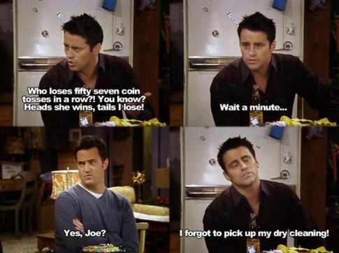 Joey forgets his dry cleaning