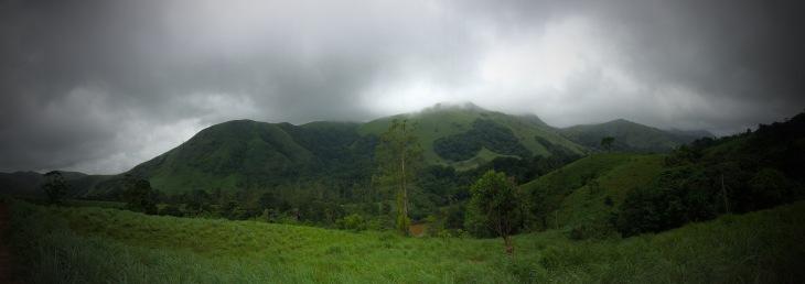 green mountain in Thekkady