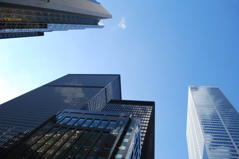 corporate highrise buildings