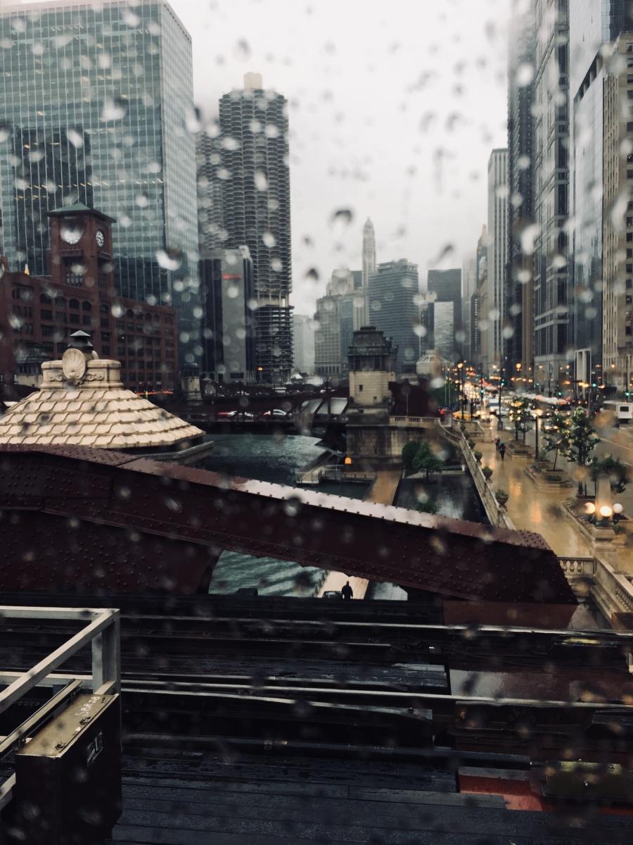 Chicago through the train