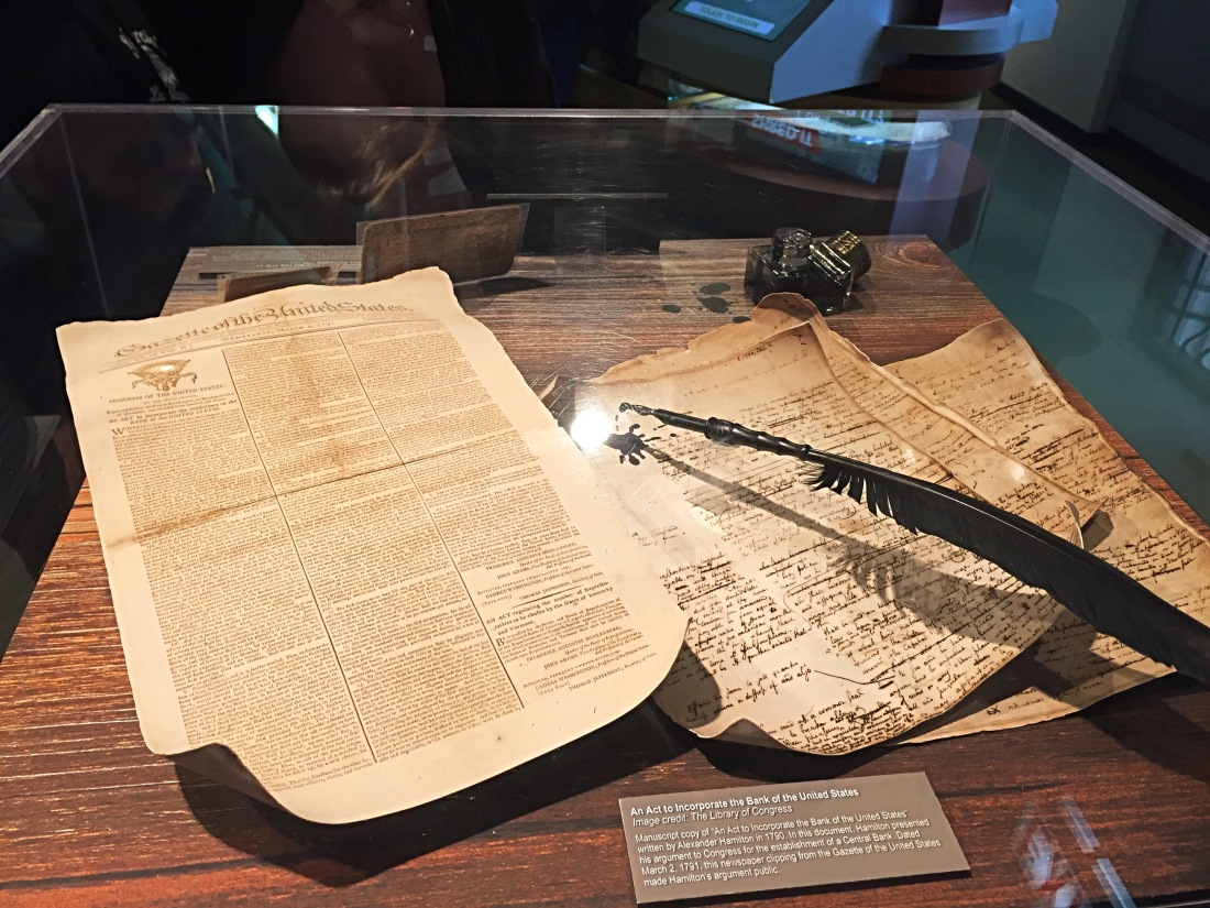 Act to incorporate the Bank of the United States - on display at the Chicago Money Museum