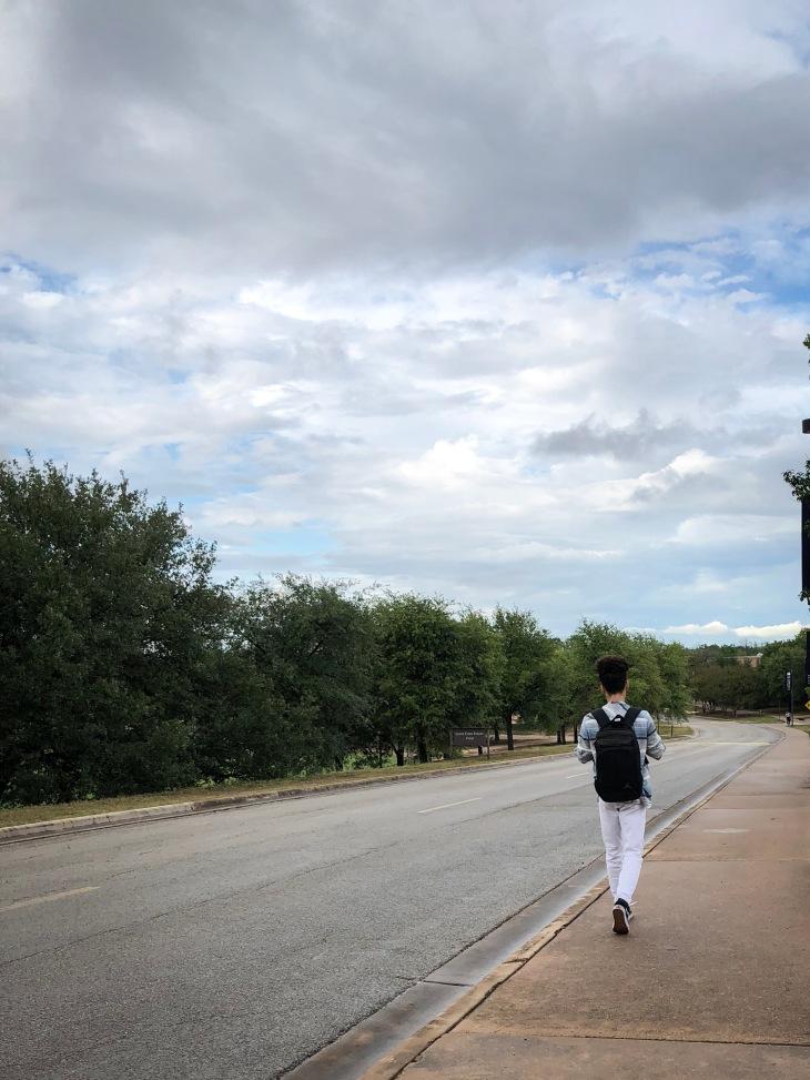 A solo walker, Austin