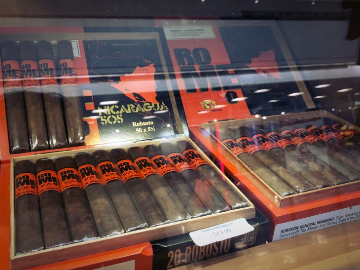 Cuban cigars for sale at the Miami International Airport