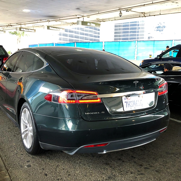Tesla on the streets of LA