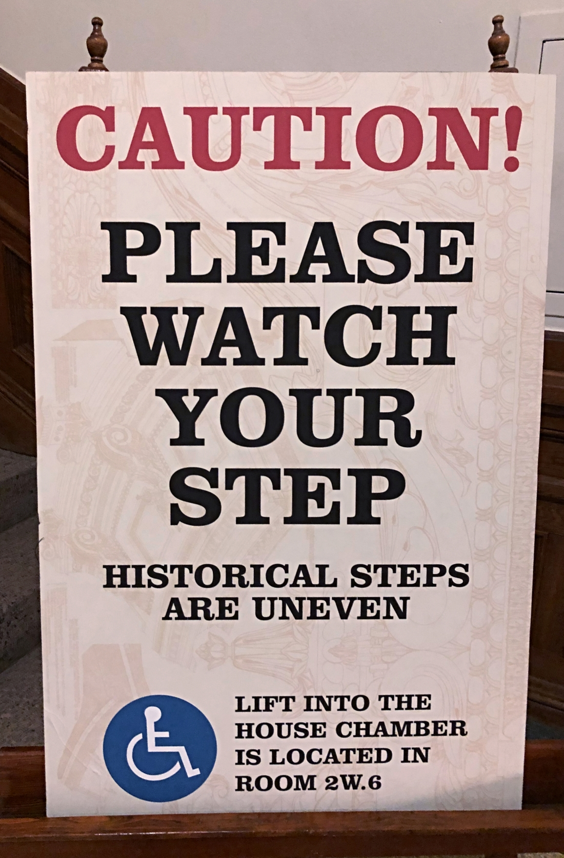 Some witty caution at the Texas State Capital, Austin