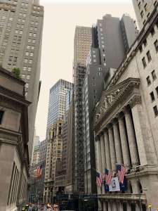 Wall Street buildings, New York City