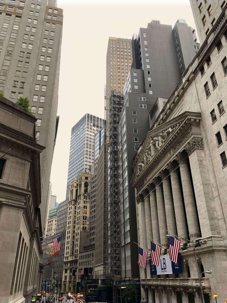 Wall Street buildings, New York City
