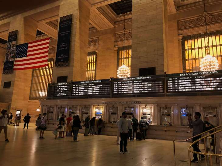 Grand Central Terminal display boards