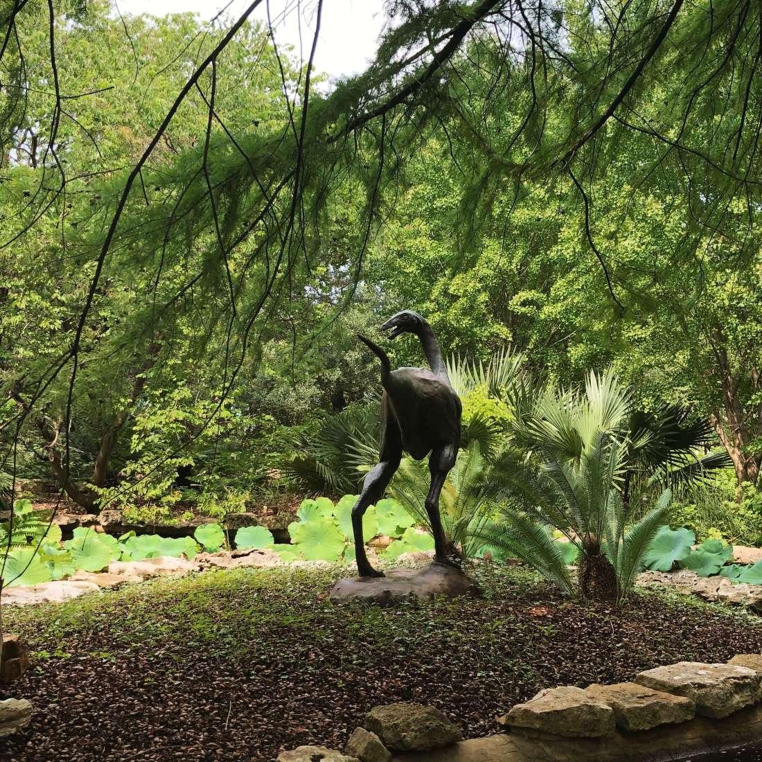 Dinosaur statue at the Zilker Botanical Garden in Austin, Texas