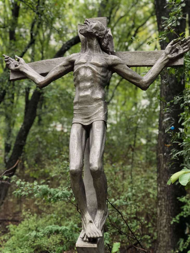 Crucifixion - a sculpture at the Umlauf sculpture garden and museum, Austin, Texas
