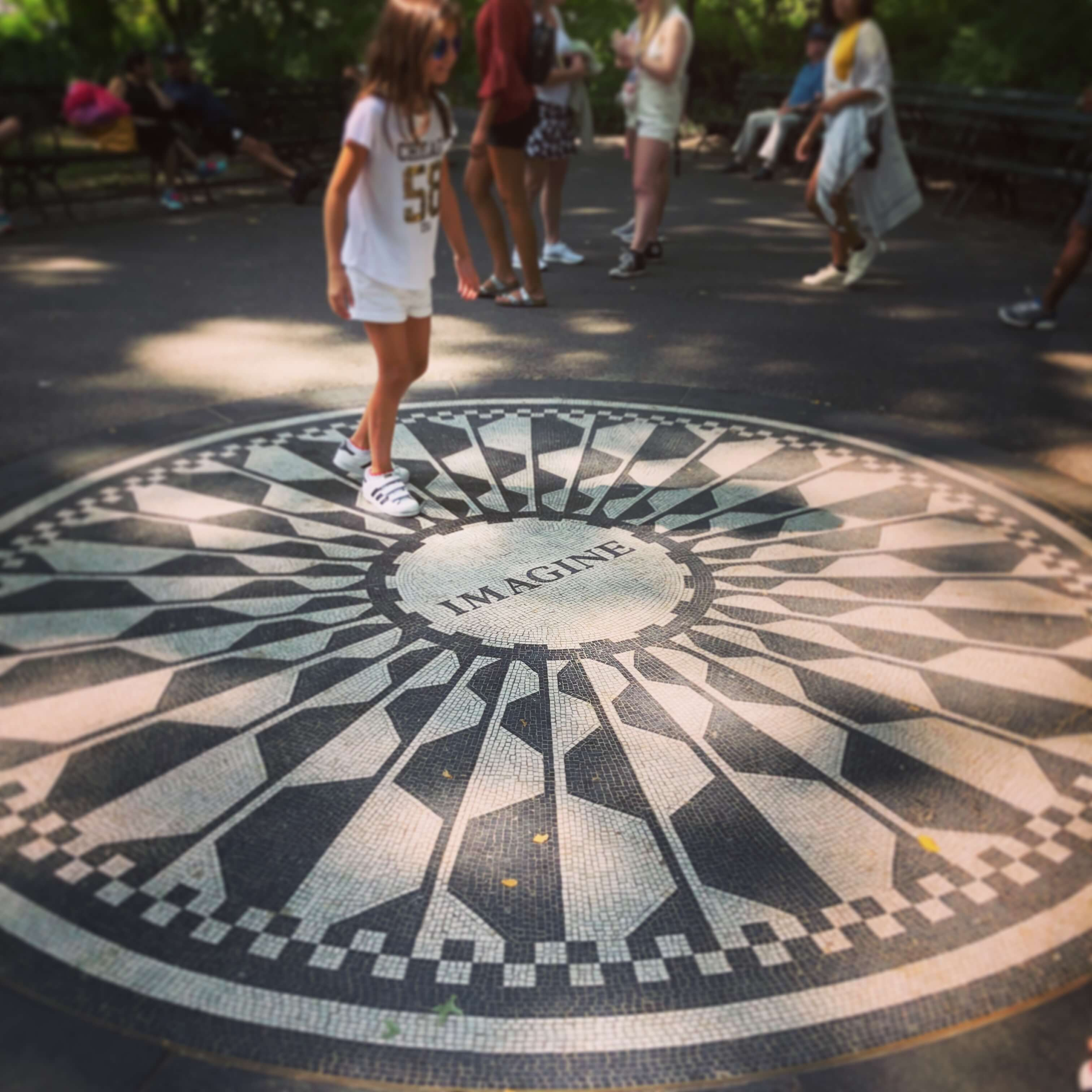 Strawberry Fields —John Lennon memorial in Central Park, New York City