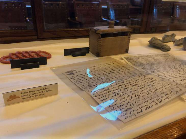 Artefacts on display at the Texas State Capitol in Austin