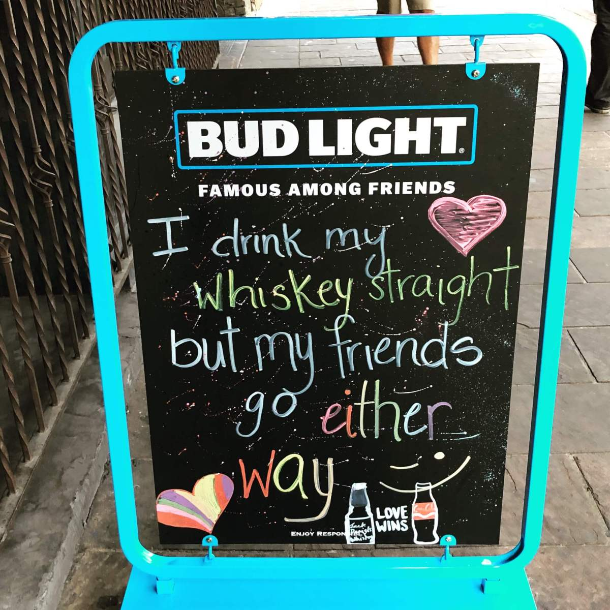 Billboard at a bar in 6th steet, Austin, Texas