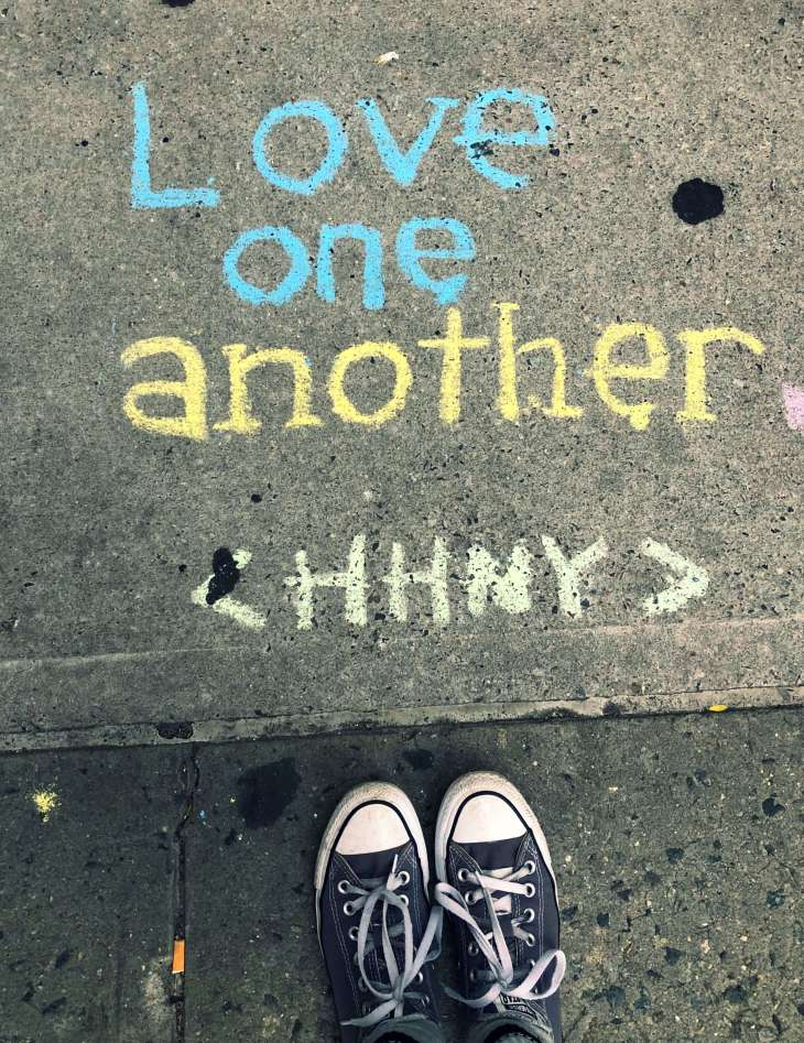 Love One Another - mural in the streets of New York City