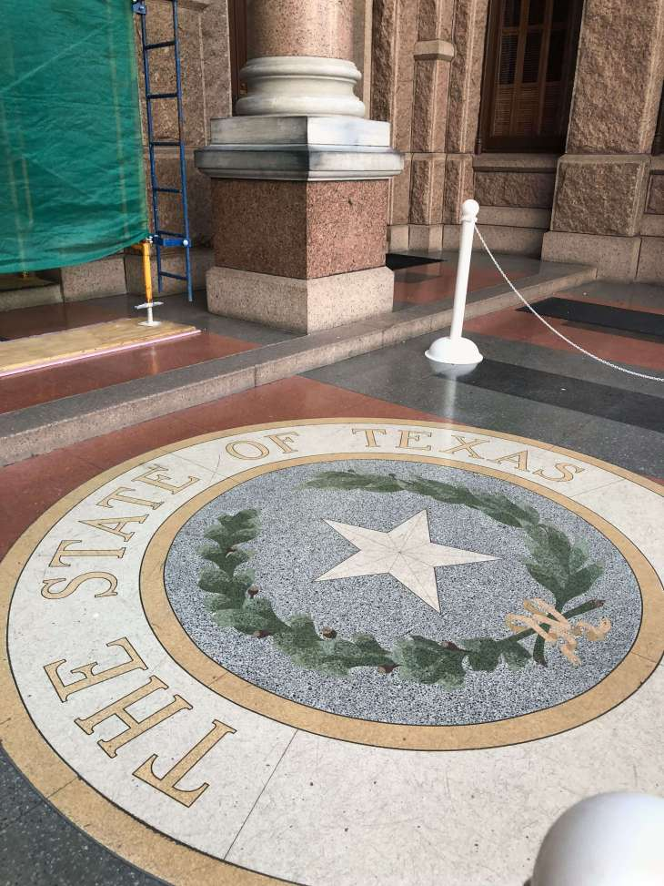Outside the Texas State Capitol in Austin