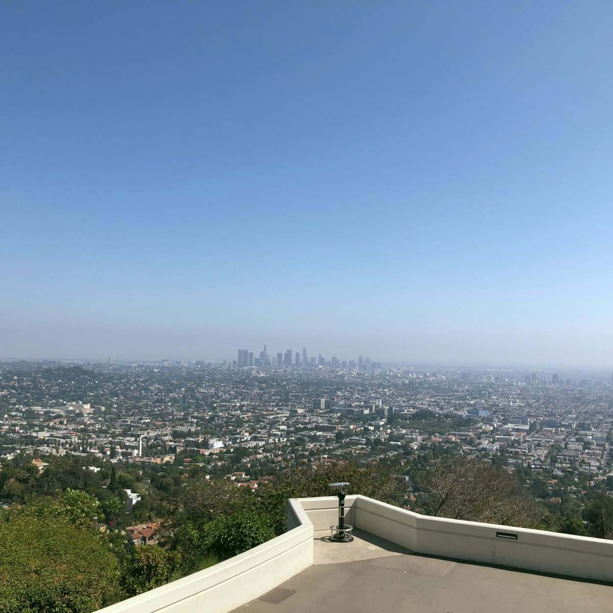 Los Angeles skyline as seen from the Griffith Observatory