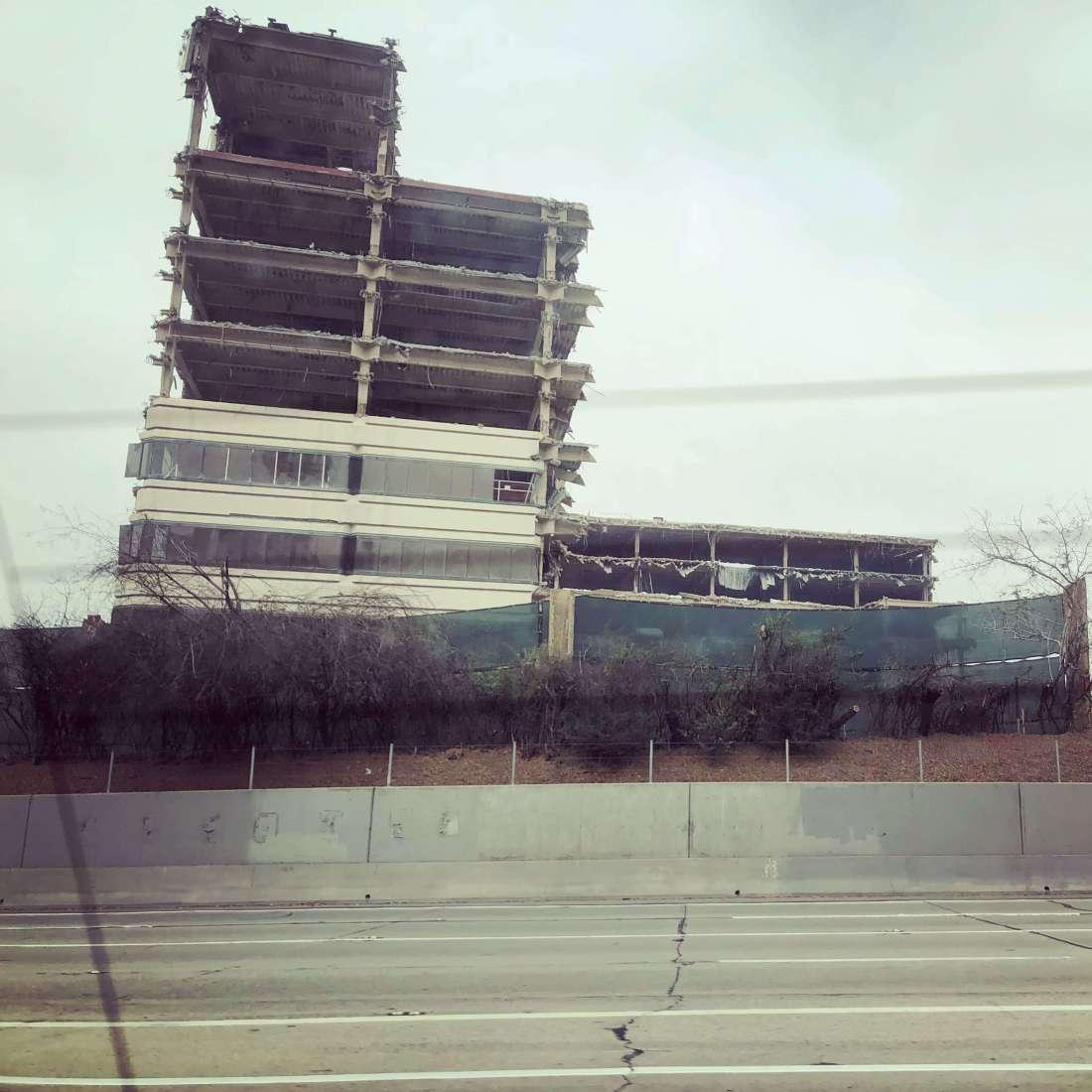 Broken down building in downtown Los Angeles, California