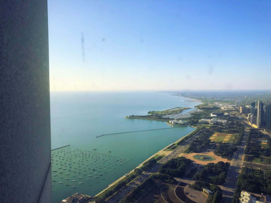 Downtown Chicago as seen from above