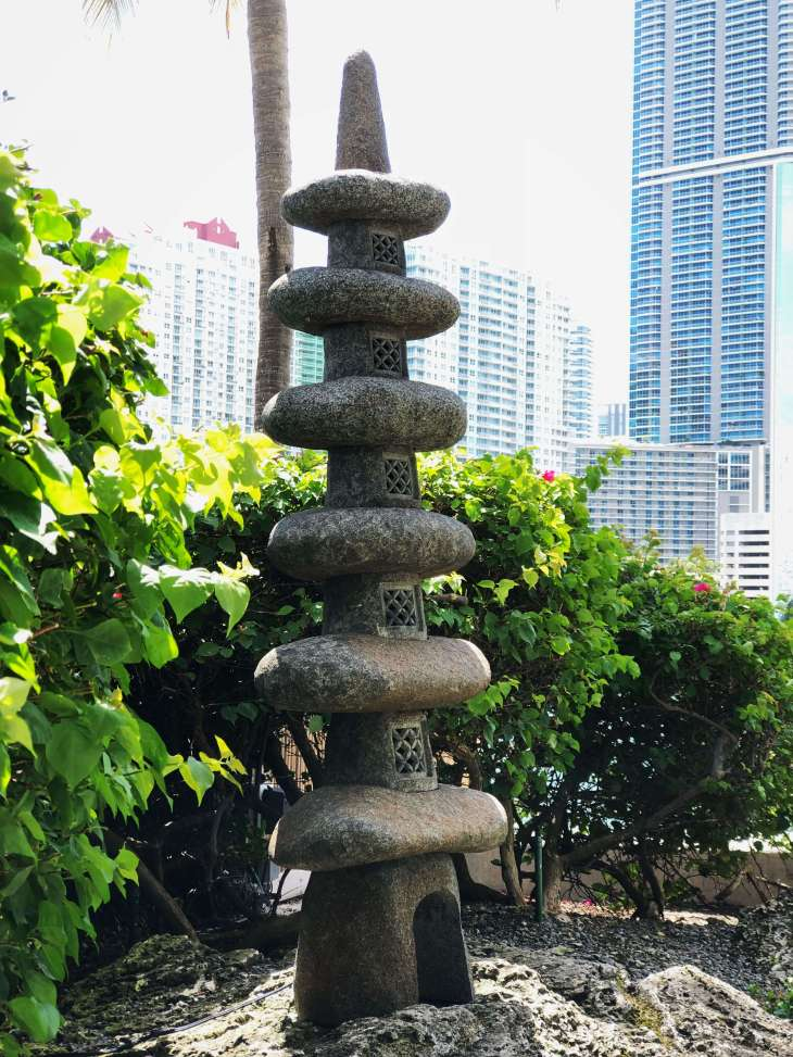 Step stone art work at Brickell Park in Miami