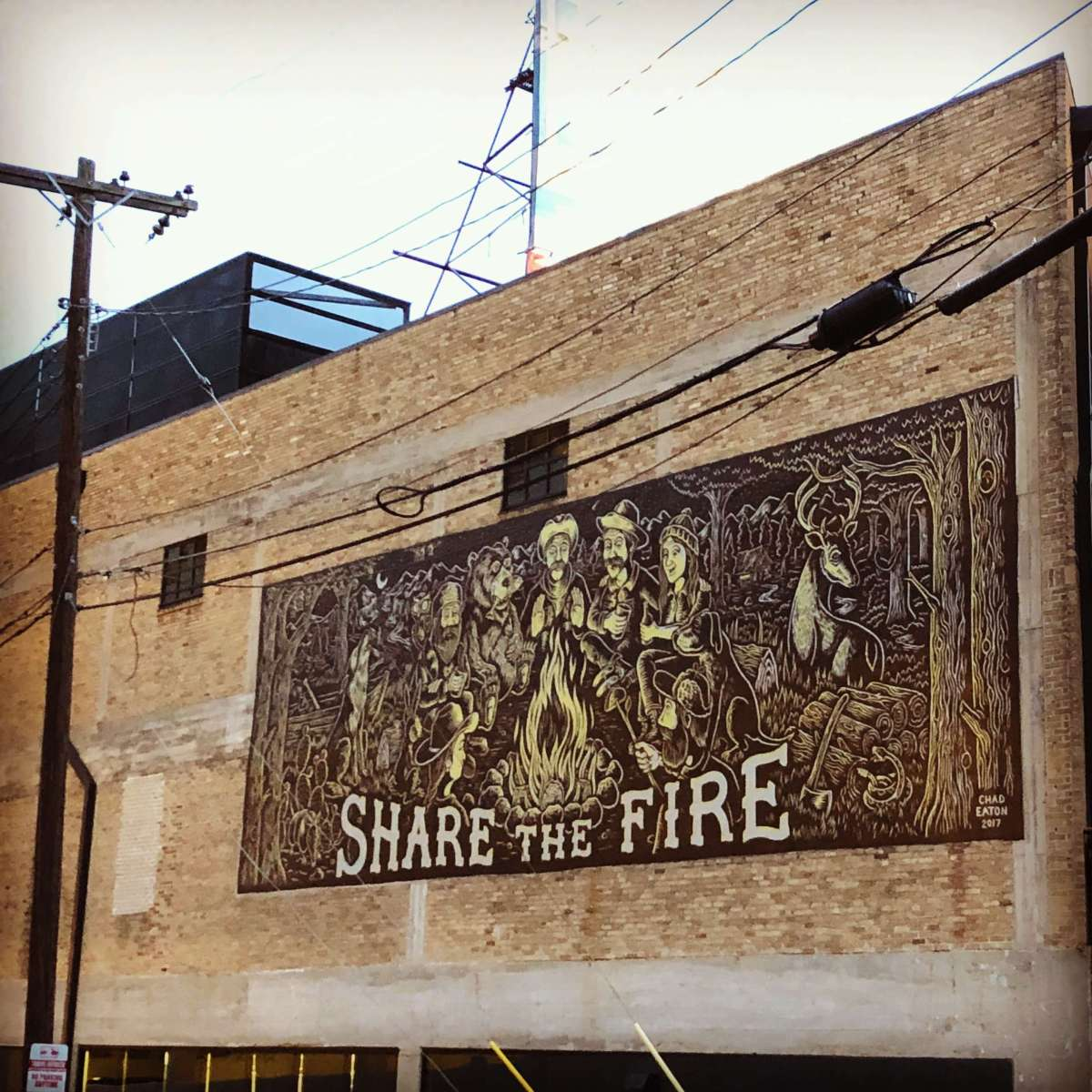 Street mural in Austin, Texas