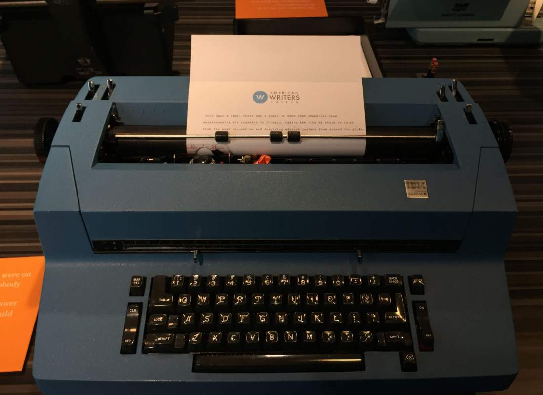 Vintage typewriter at the American Writers Museum in Chicago