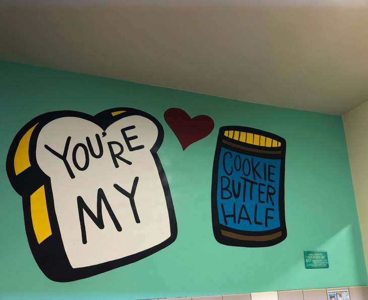 You're my cookie butter half mural in Trader Joe's, downtown Austin, Texas