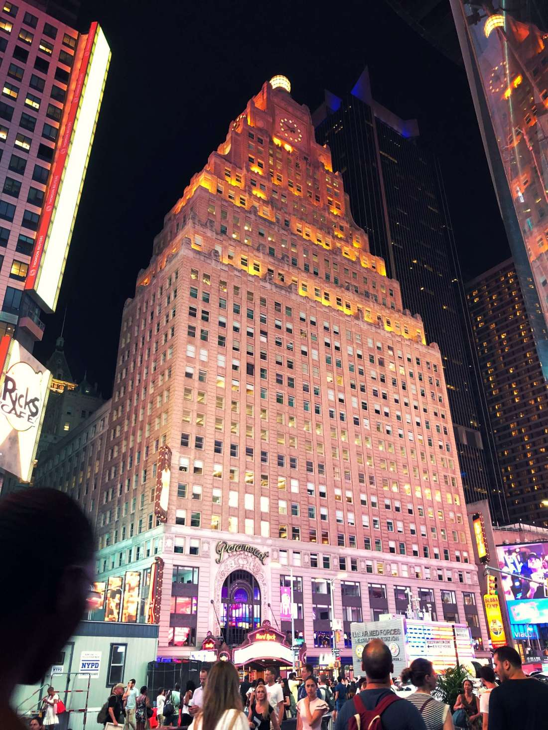 Paramount building in New York City