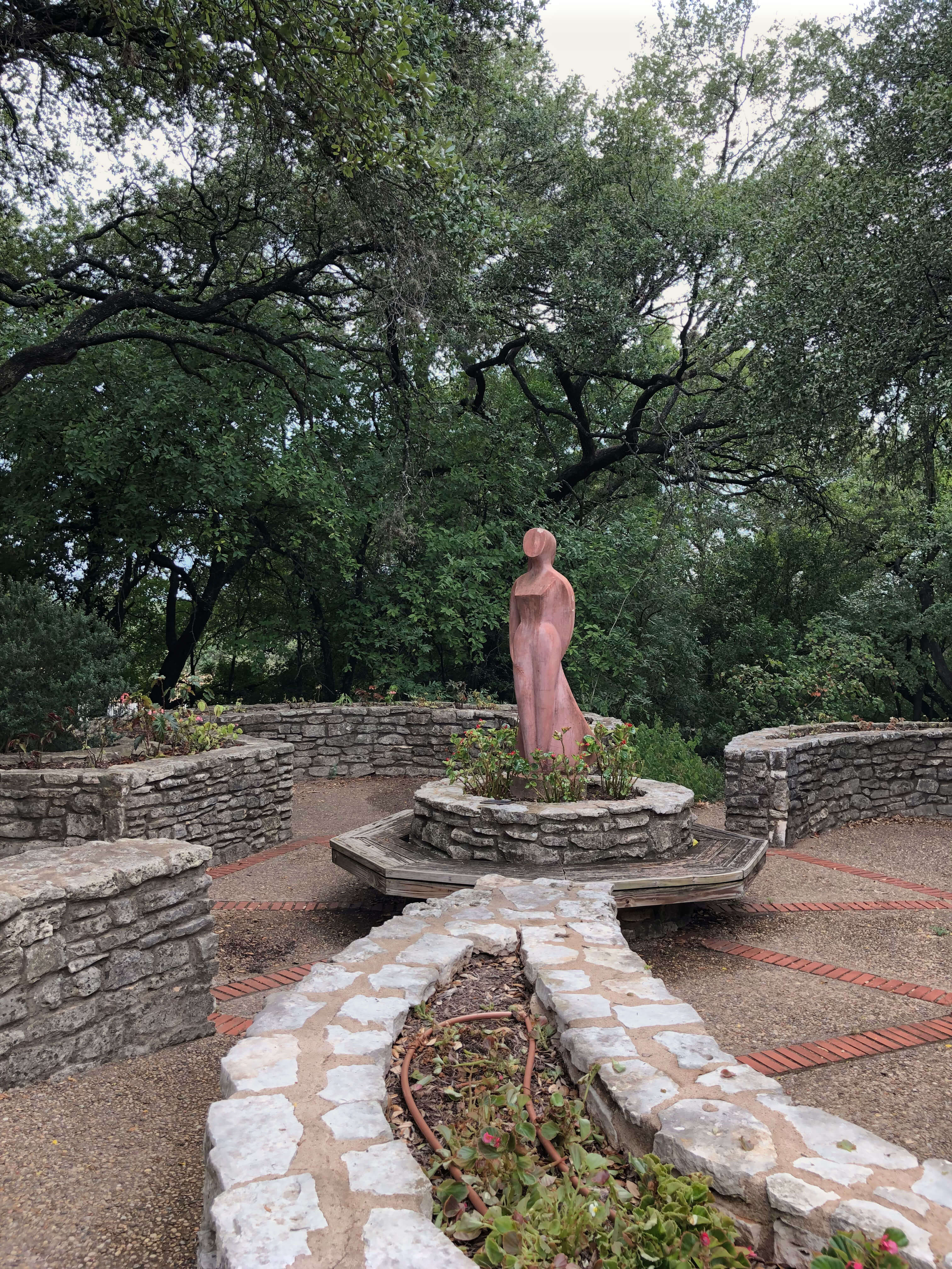 Statue of a woman at Zilker Botanical Garden in Austin, Texas