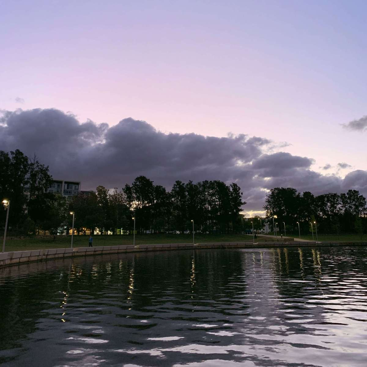 Lake Ginninderra in Canberra, Australia