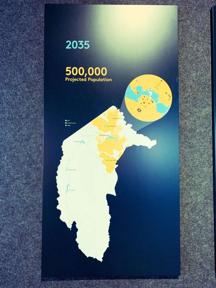 Estimated population of Canberra in 2035