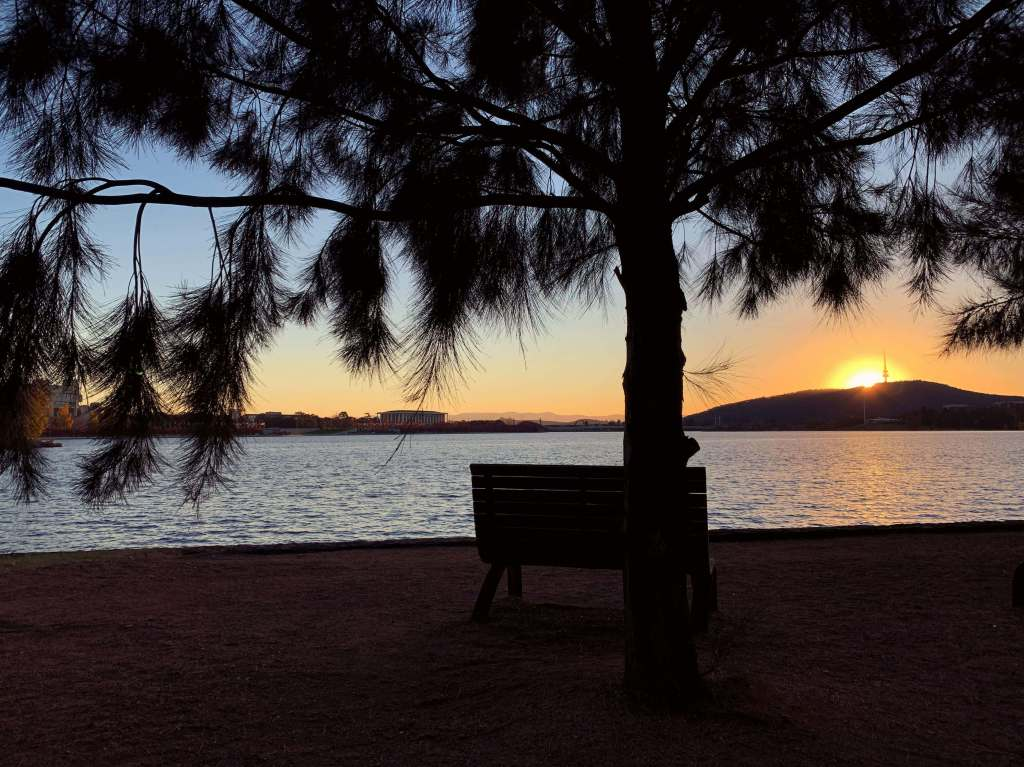 Sunset by Lake Burley Griffin, Canberra