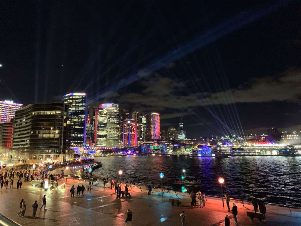 Sydney Harbour during Vivid Sydney