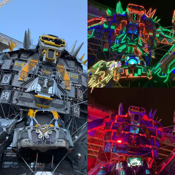 Vivid Sydney displays during the day and night