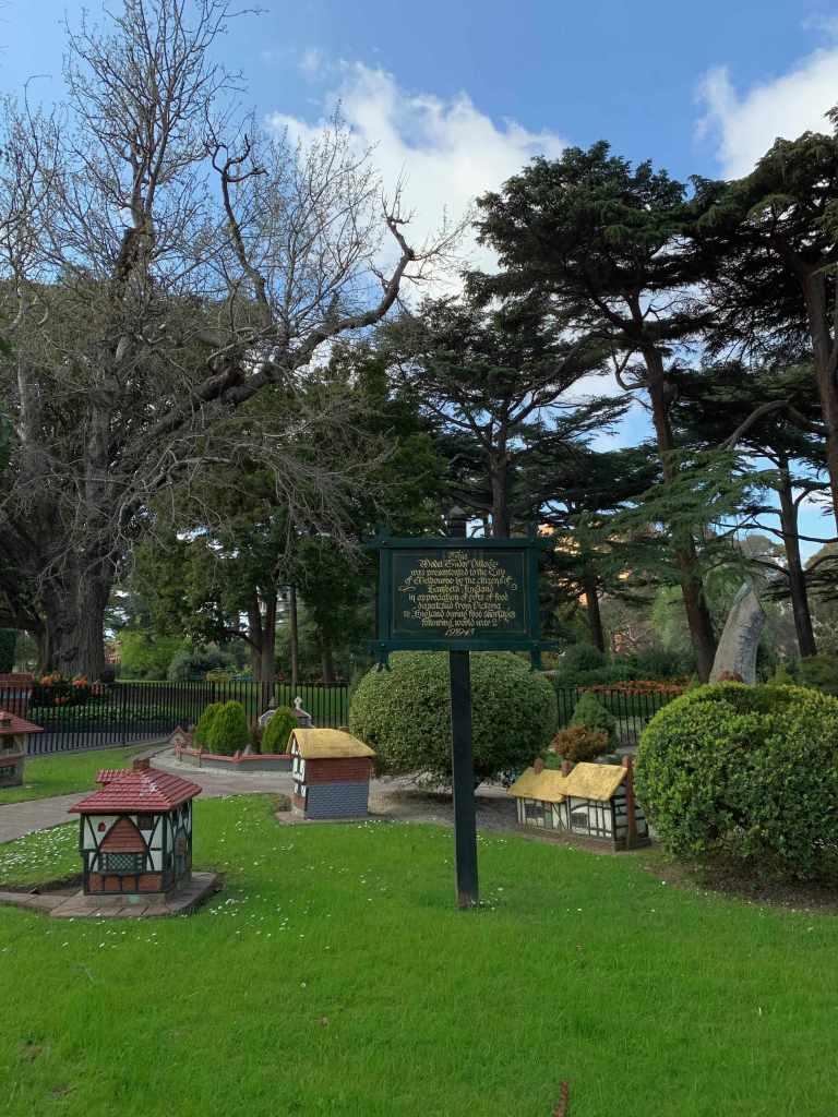 Tudor Village in Fizroy Gardens, Melbourne