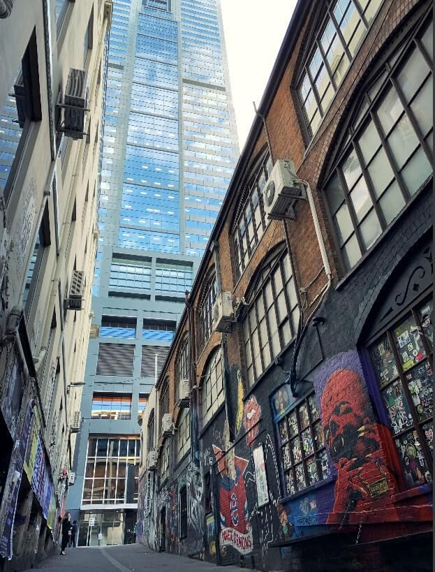 Graffiti in AC/DC Lane, Melbourne