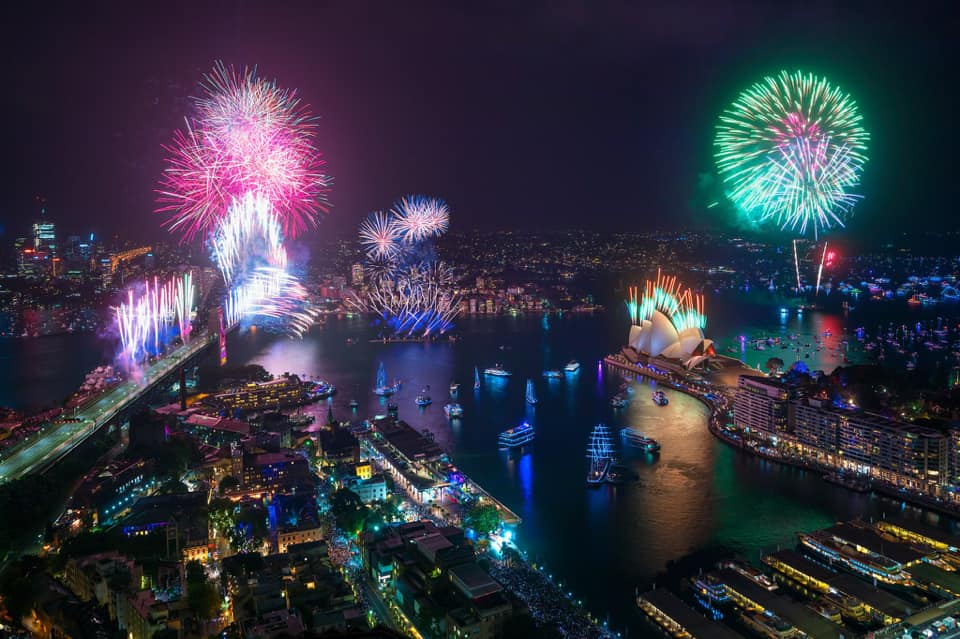 New year celebrations in Opera House, Sydney