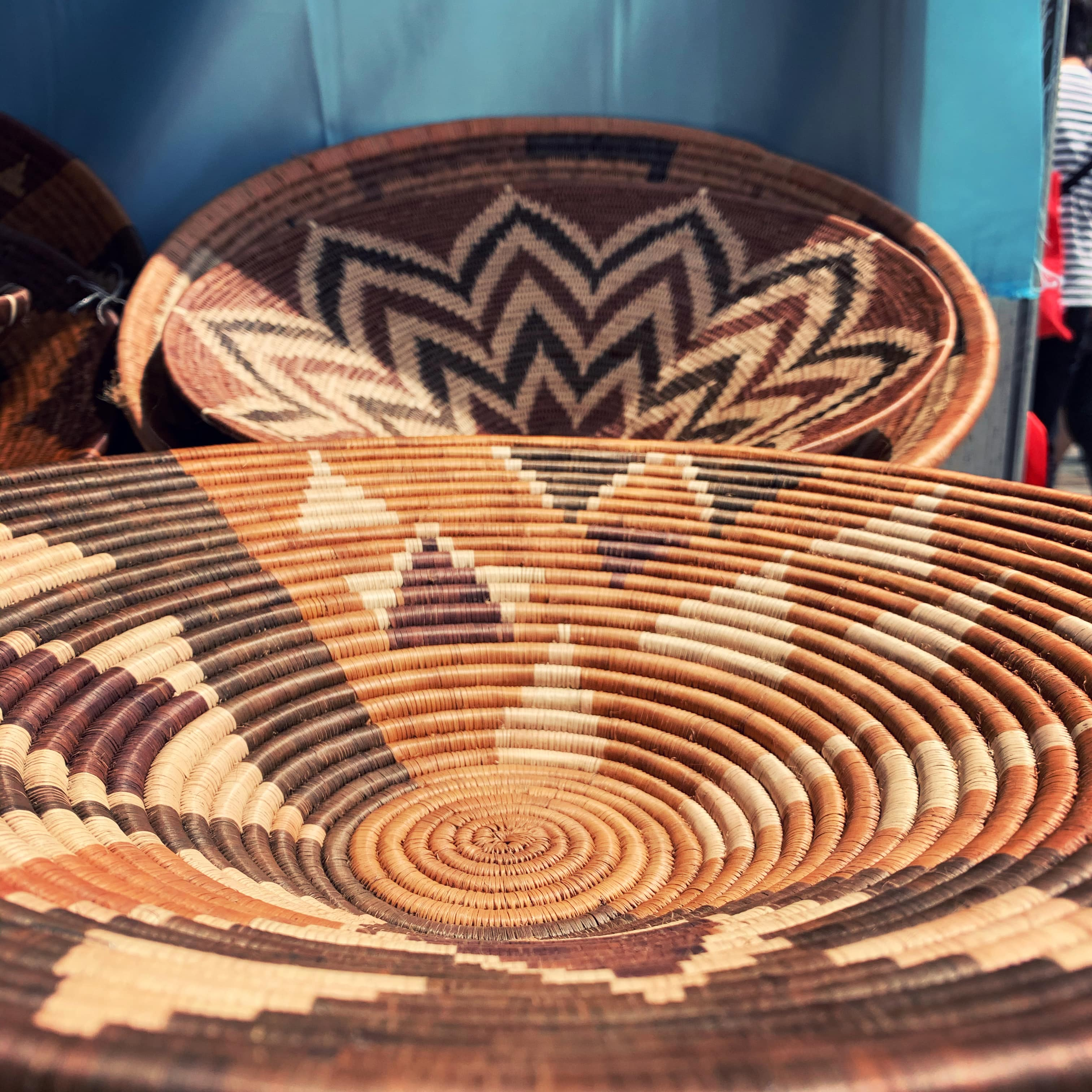 Hand woven basket at National Multicultural Festival