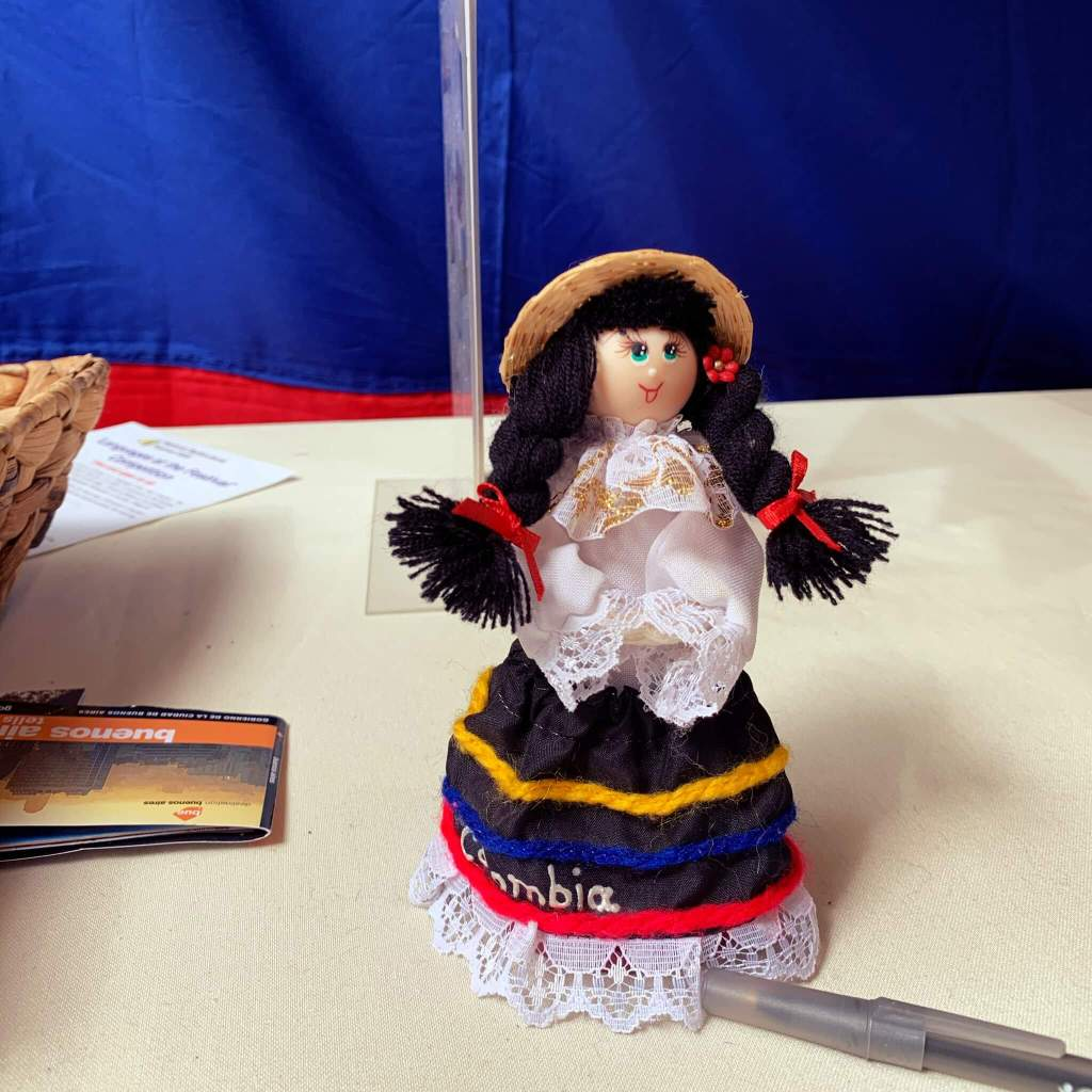 Doll figure at the Columbia stall at the National Multicultural Festival in Canberra