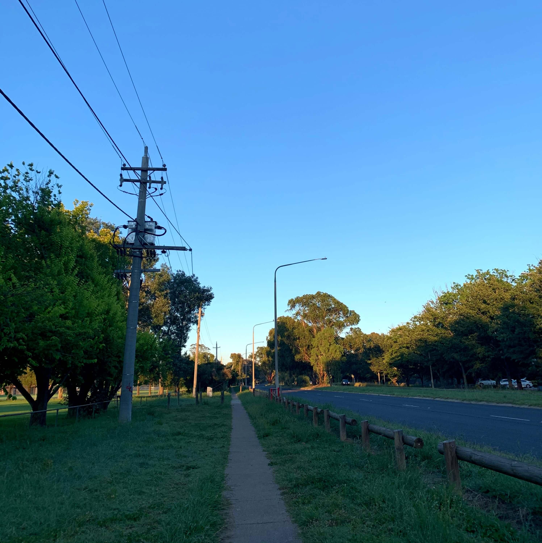 Summertime sunrise, Canberra