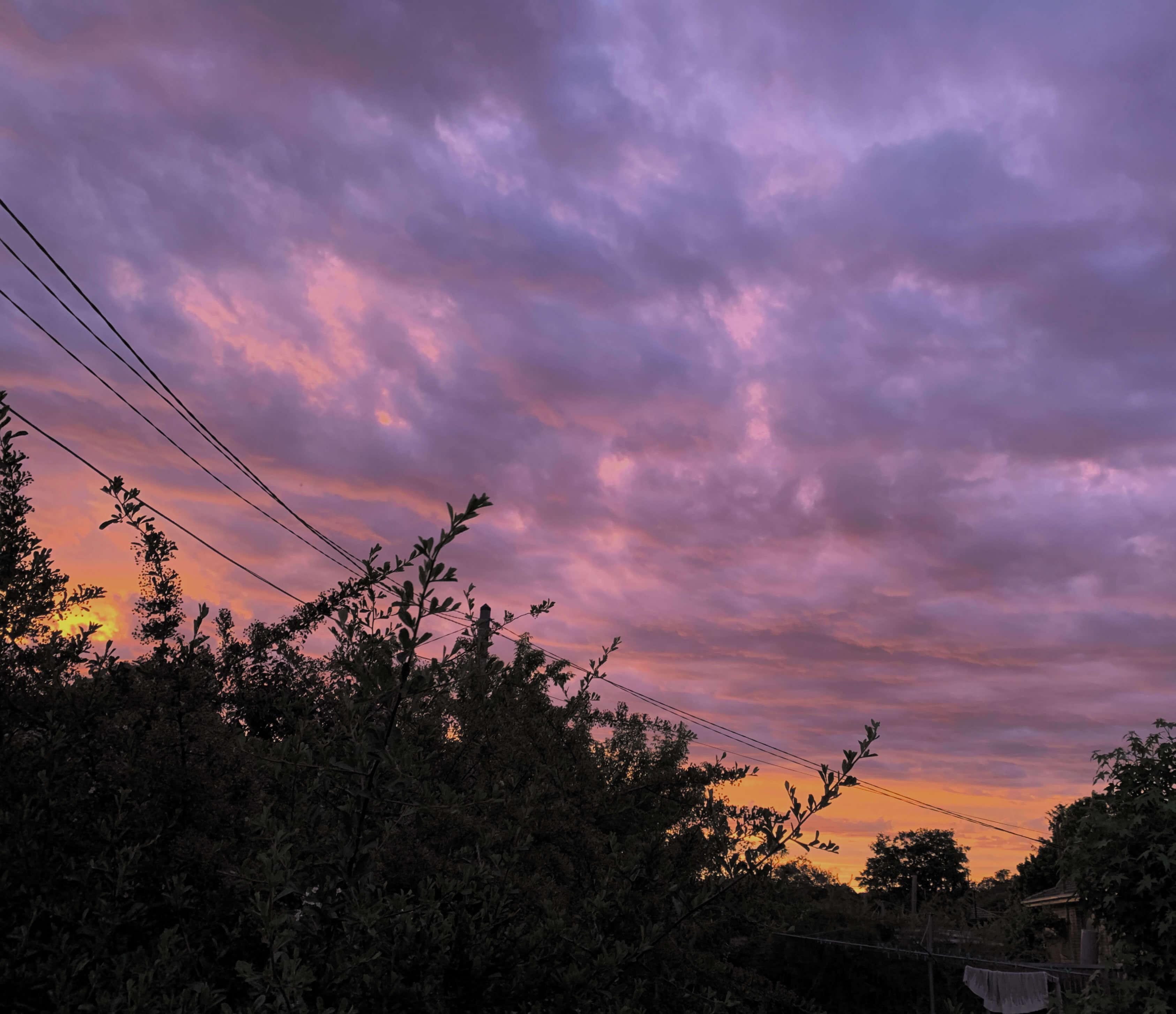 Sunset in my backyard