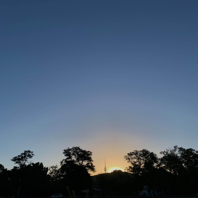 summer sunset, Canberra