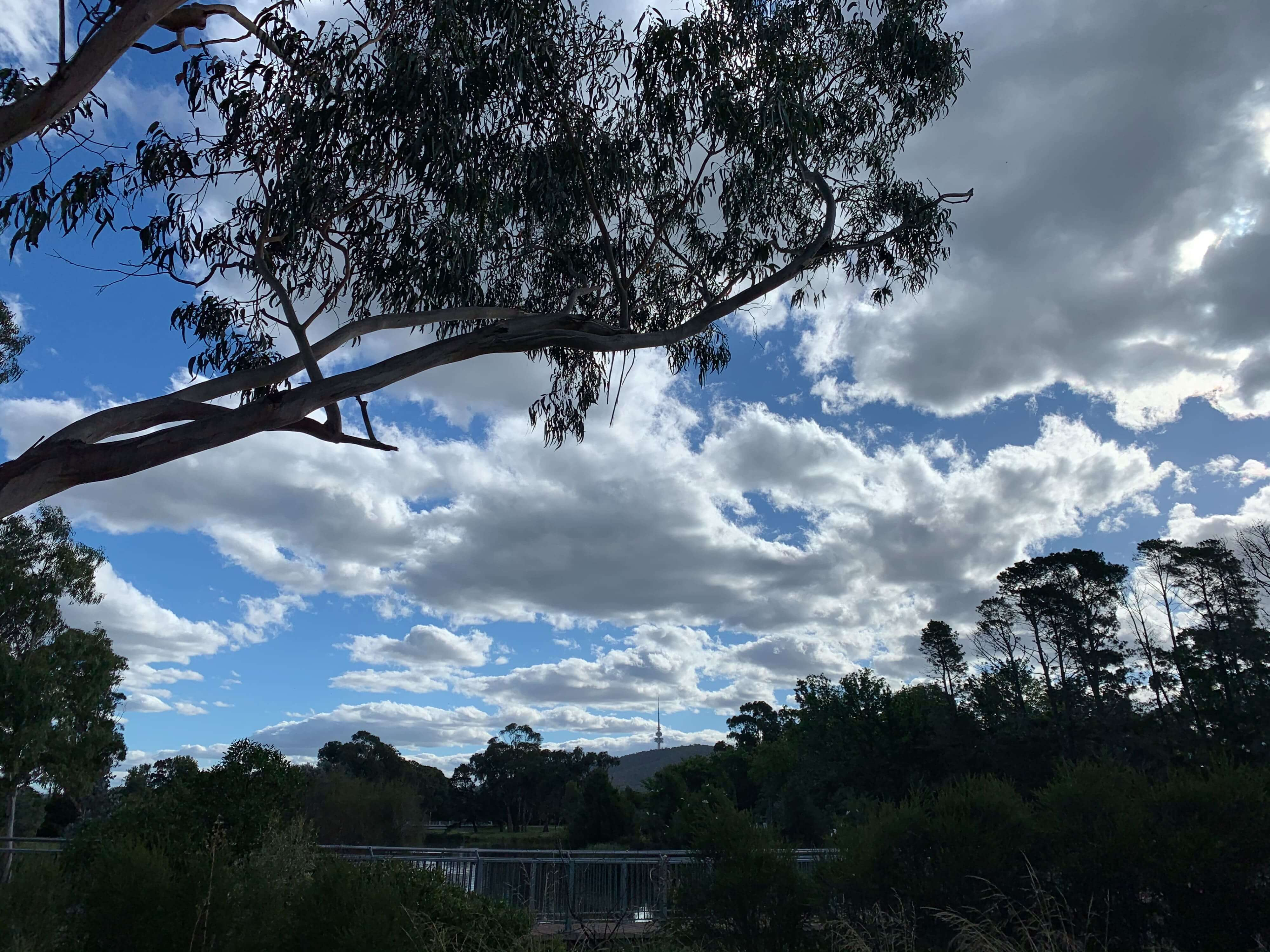 dark clouds hovering over the city on a summer afternoon, Canberra