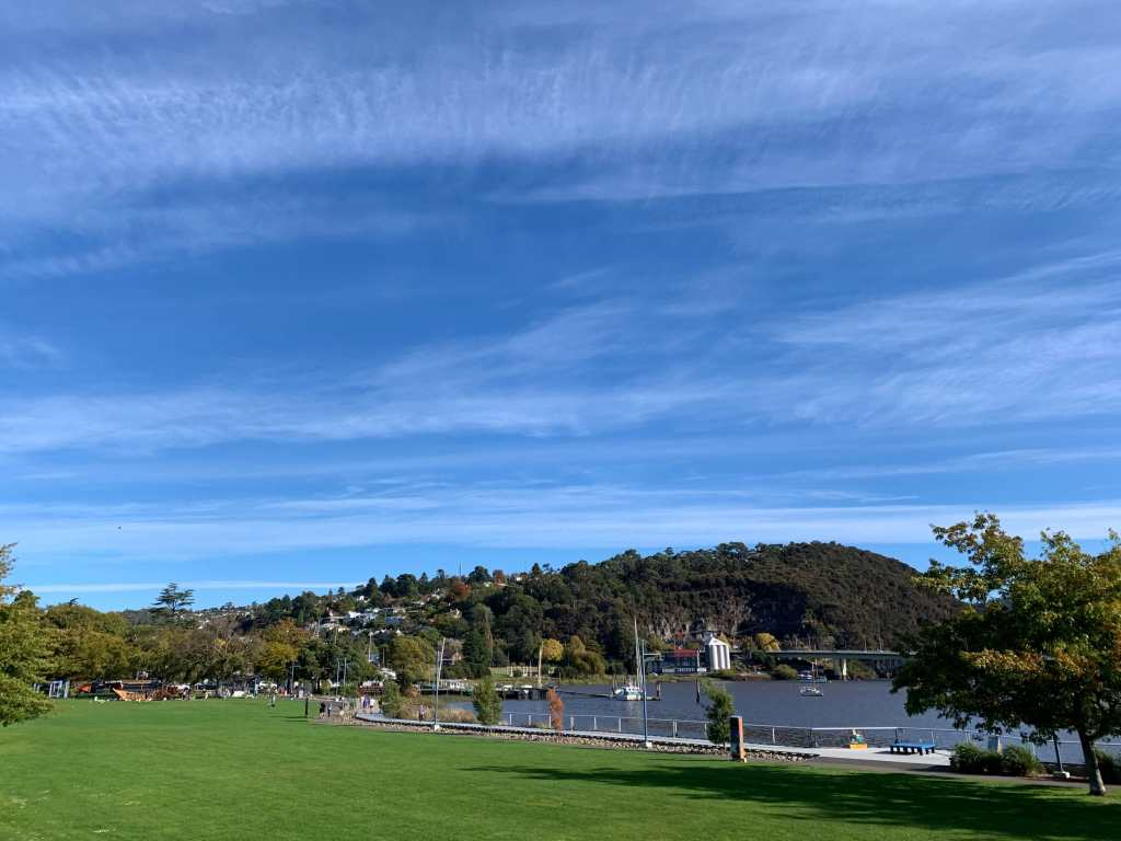photo of the suburbs of Launceston as seen from across the Tamar river