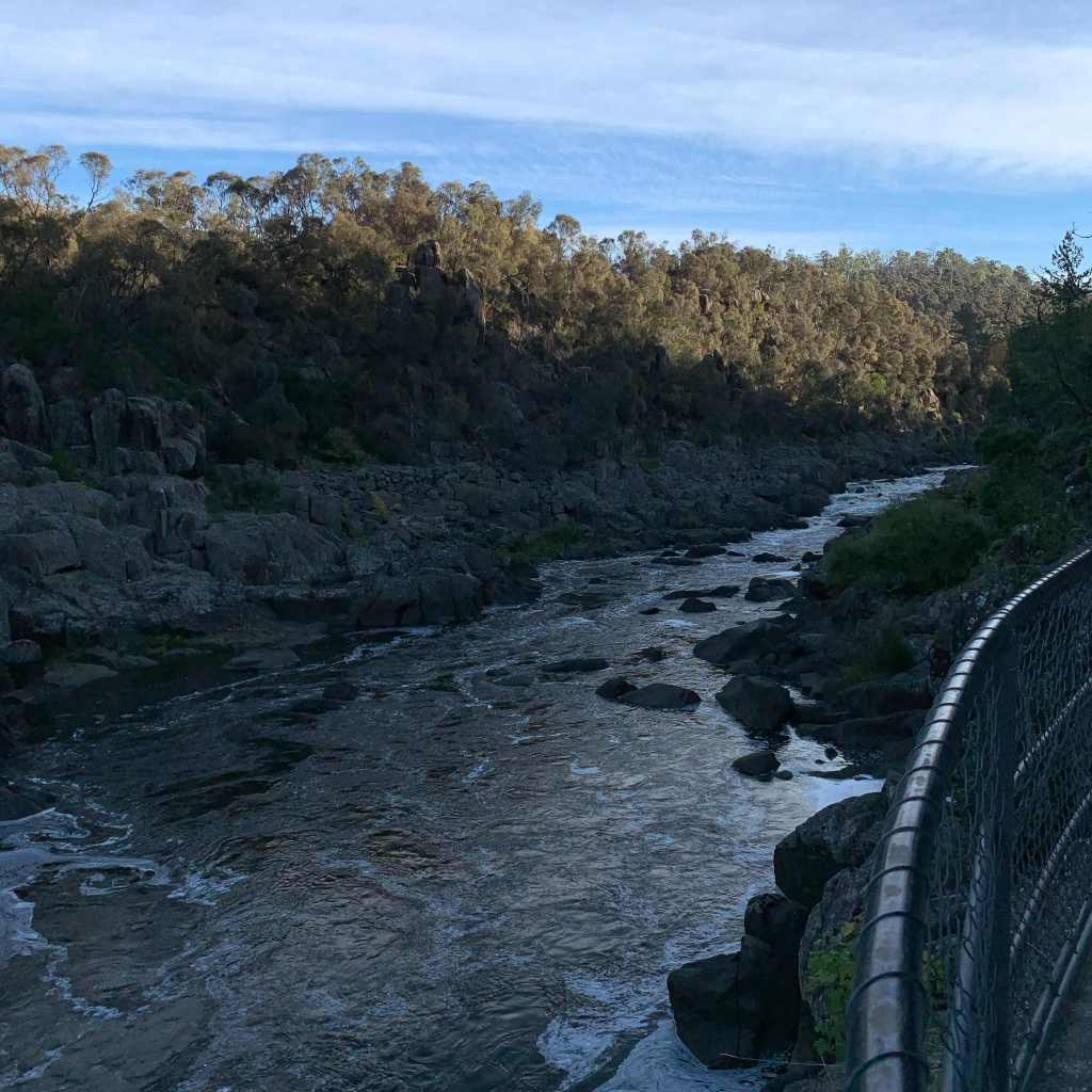The South Esk River as seen from the Cataract Walk, Launceston, Tasmania