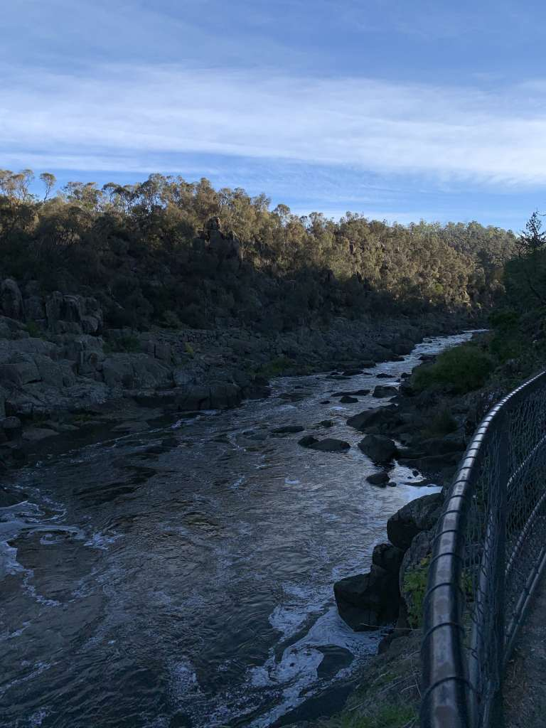 View of South Esk River from the Cataract Walk, Launceston, Tasmania