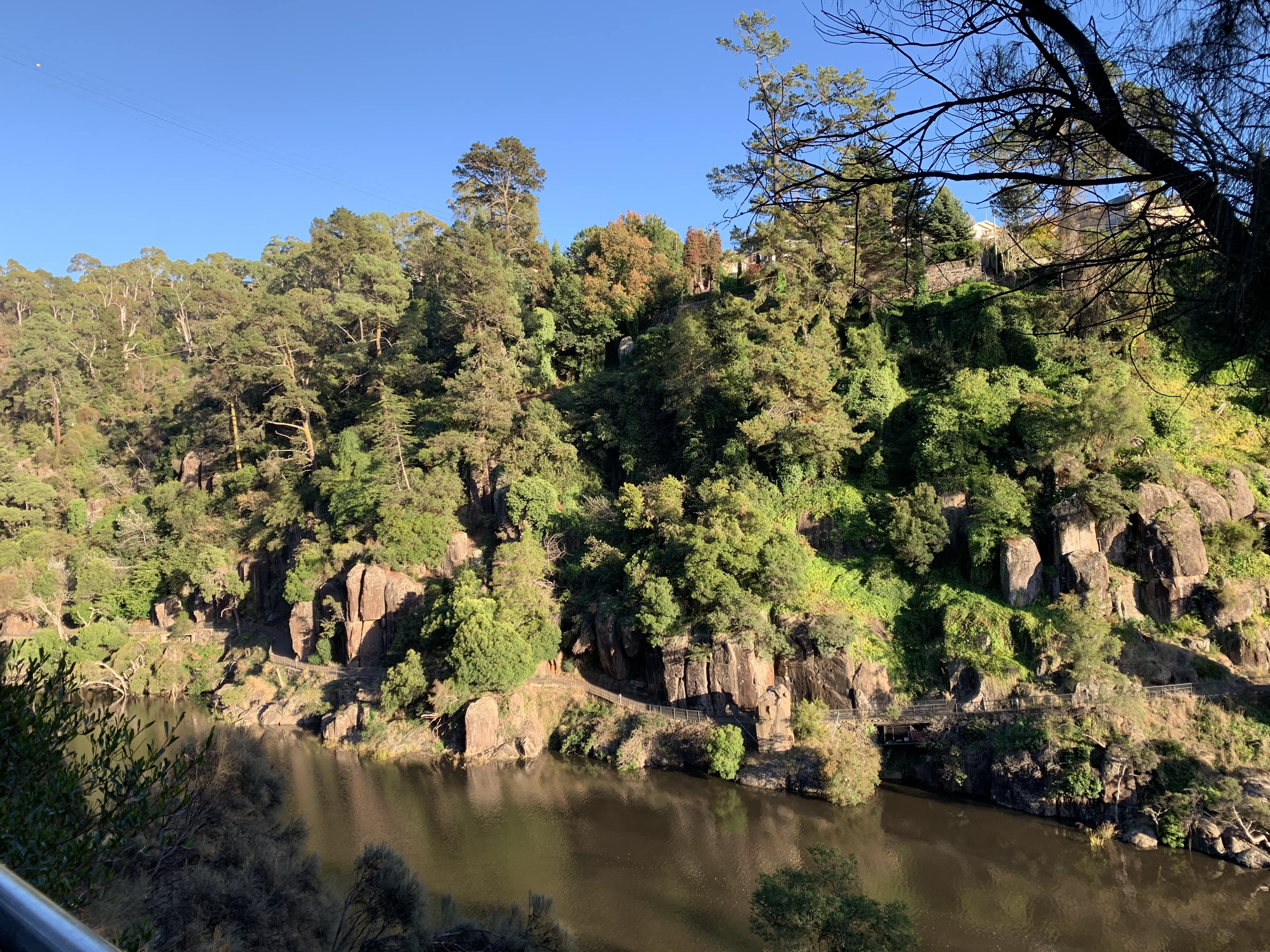 View of the Cataract Walk from the Zig Zag Trail, Launceston, Tasmania