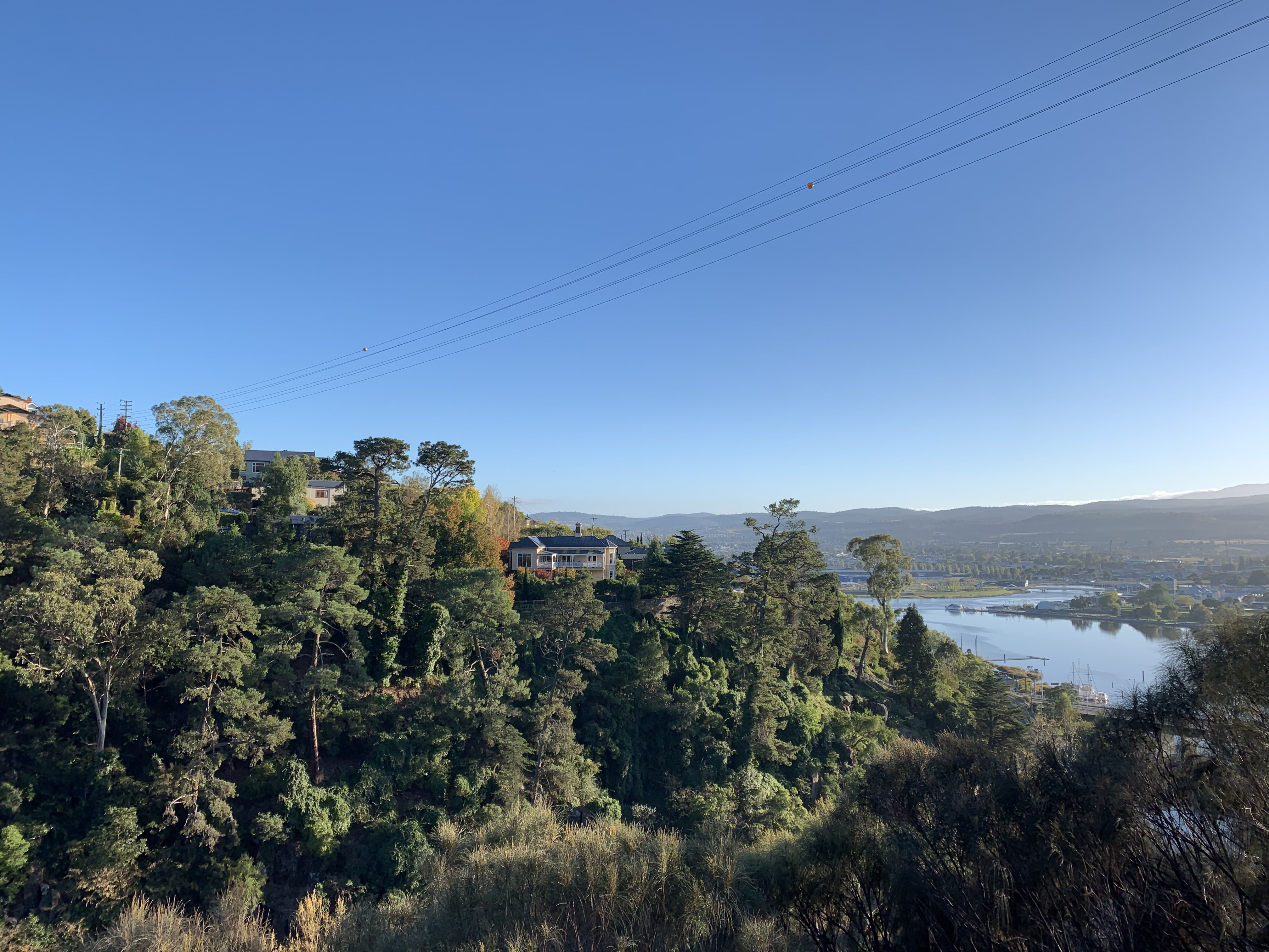 View of the South Esk River from the Zig Zag Trail, Launceston, Tasmania