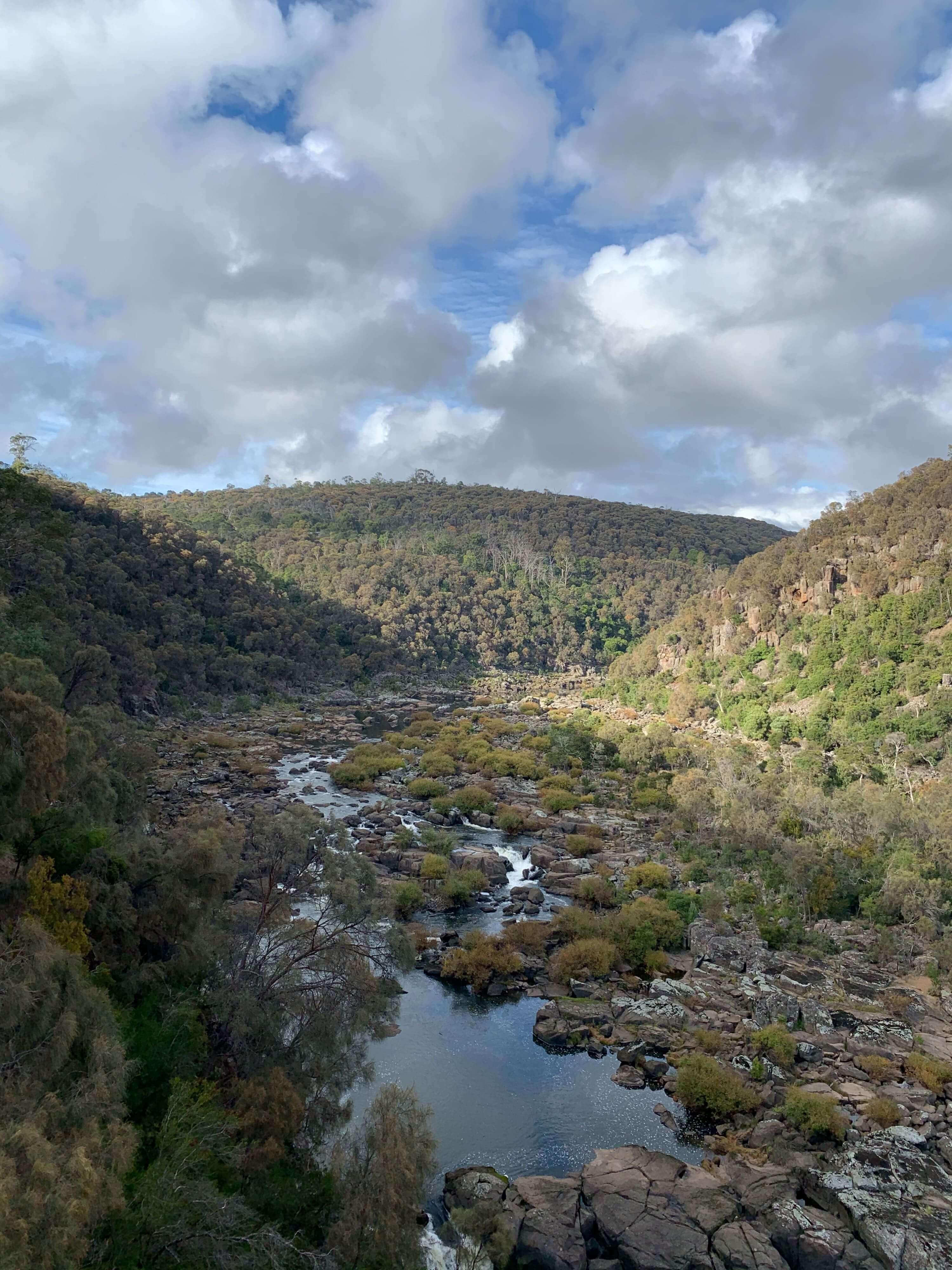photo of the South Esk river running through the Cataract Gorge in   Launceston, Tasmania
