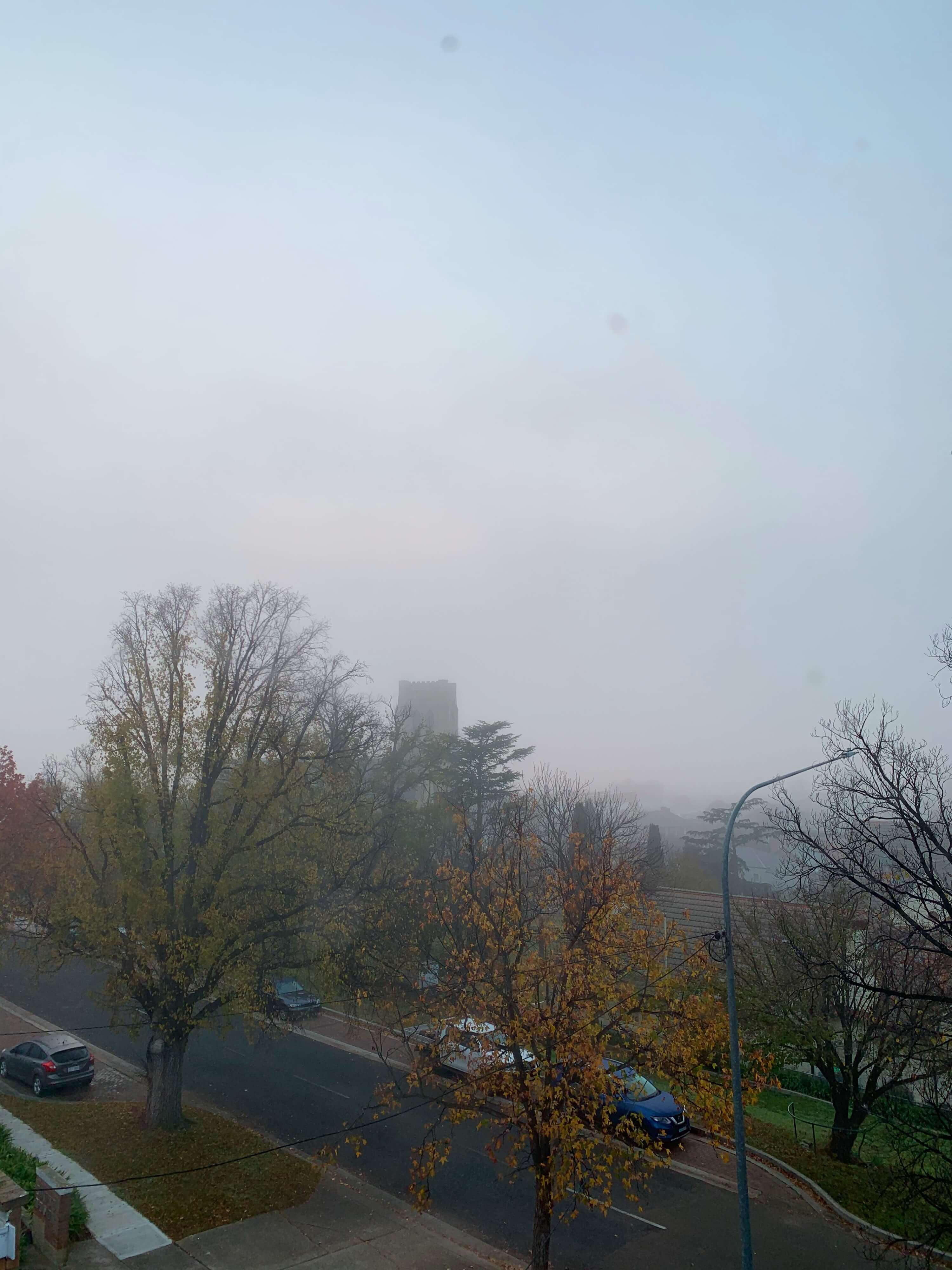 foggy morning in Goulburn