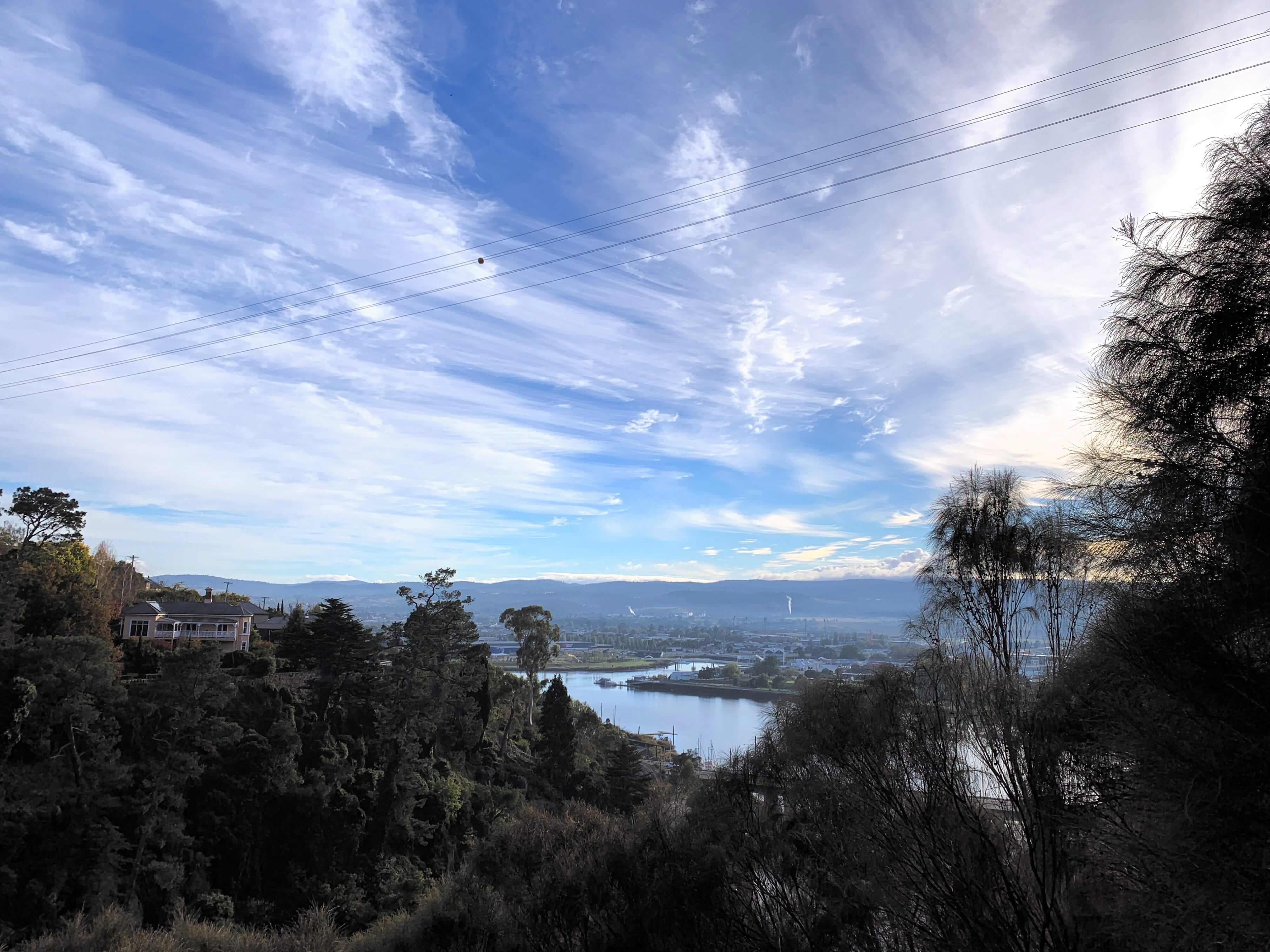 clouds moving towards the sunset, Launceston, Tasmania